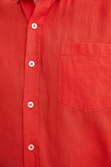 DeFacto Basic Modern Fit Gömlek Kırmızı